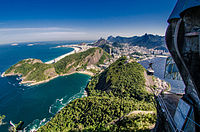 Botafogo and Copacabana as seen from Sugarloaf Mountain
