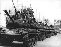 A convoy of tanks along the streets of the city in 1968 during the military rule. At time, Rio de Janeiro was a city-state, capital of Guanabara.