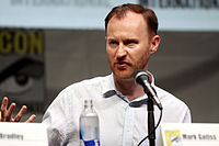 Gatiss at the 2013 San Diego Comic-Con, promoting Doctor Who