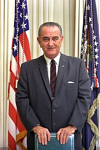 Johnson in the Oval Office in 1969, a few days before Richard Nixon's inauguration