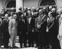 Vice President Johnson and Attorney General Robert Kennedy meeting with civil rights leaders at the White House on June 22, 1963.