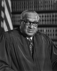 With the appointment of Thurgood Marshall, Johnson placed the first African American on the Supreme Court.