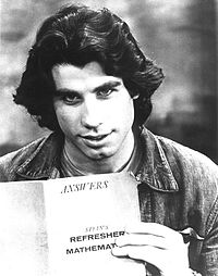 Travolta as Vinnie Barbarino in the ABC comedy Welcome Back, Kotter, c. 1976