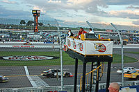 Flagstand of Iowa Speedway in June 2007, the track where the race was held.