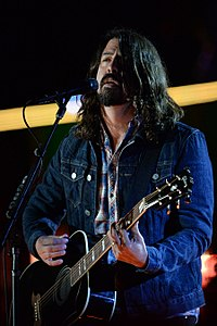 Grohl at The Concert for Valor in Washington, D.C., 2014
