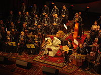 Rachidia orchestra playing traditional music in Tunis Theater