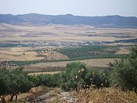 View of the central Tunisian plateau at Téboursouk