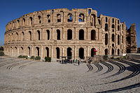 The Roman amphitheater in El Djem, built during the first half of the 3rd century AD