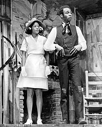 Melba Moore and Little in the Broadway musical Purlie (1970)