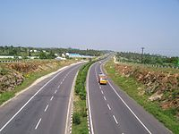 A view of the NH 544 expressway between Coimbatore and Salem in Tamil Nadu