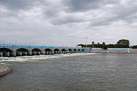 "Kallanai or Grand Anicut, an ancient dam built on the Kaveri River in Thanjavur district by Karikala Chola around the 2nd century CE<ref>{{cite news |title=Flowing waters for fertile fields |url=http://www.thehindu.com/life-and-style/kids/article2408778.ece |newspaper=The Hindu |date=29 August 2011 |location=India |first=M. |last=Balaganessin |archive-url=https://web.archive.org/web/20120717220026/http://www.thehindu.com/life-and-style/kids/article2408778.ece |archive-date=17 July 2012 |url-status=dead }}</ref><ref name=""kallanai_googlebook"">{{cite book 