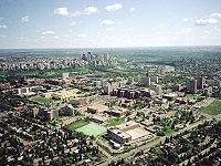 The University of Alberta in 2005. The institution is the oldest, and largest university in Alberta.