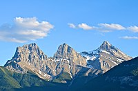 The Three Sisters at Bow Valley Provincial Park in Canmore