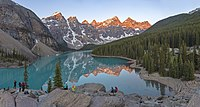 Moraine Lake at Banff National Park. The Alberta Mountain forests makes up the southwestern boundary of Alberta.