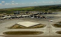 Calgary International Airport, the province's largest airport by passenger traffic.