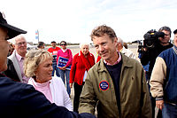 Paul greeting supporters at Bowman Field in Louisville, Kentucky, on November 1, 2010.