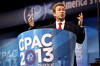 Paul speaking at the 2013 Conservative Political Action Conference (CPAC) in National Harbor, Maryland, on March 14, 2013.