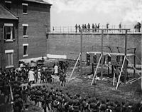 The execution of the Lincoln assassination conspirators, July 7, 1865