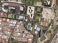 Satellite view of the circuit, as it appeared in 2018