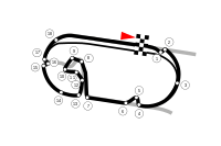 The Formula E layout, based on both the oval and modern Grand Prix layouts