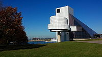 The Rock and Roll Hall of Fame in Cleveland, Ohio November 2015