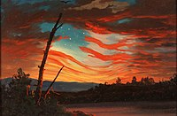 Our Banner in the Sky (1861) by Frederic Edwin Church
