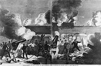 Bombardment of the Fort by the Confederates