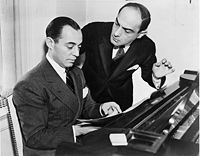 Songwriting partners Rodgers and Hart working on a song in 1936