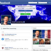 Mark Zuckerberg's profile (viewed from the login page)