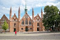 The Hospital of the Holy Spirit in Lübeck, established in 1286, is a precursor to modern hospitals.