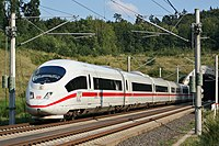 An ICE 3 on the Cologne–Frankfurt high-speed rail line