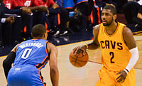 Irving against Russell Westbrook in 2015