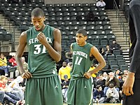 Irving behind high school teammate and future NBA forward Michael Kidd-Gilchrist