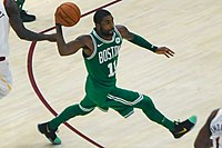 Irving in his debut for the Celtics against his former team, the Cavaliers