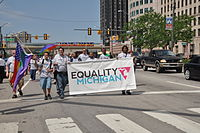 Equality Michigan in the 2012 Parade.