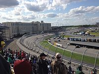 Matt Kenseth leads the AAA 400 Drive for Autism at Dover International Speedway in May, a race he wins