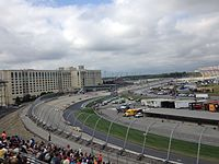 Kyle Busch leads in the Citizen Soldier 400 at Dover International Speedway in October
