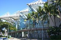 The Hawaii Convention Center, where the NTSB held its public hearings for Flight 801.