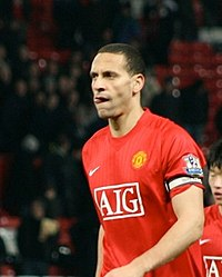 Ferdinand for Manchester United in 2008