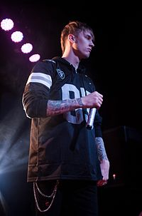 MGK performing in Pittsburgh in March 2013