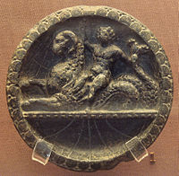 A stone plate (1st century).