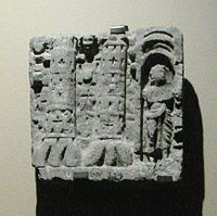 Gandhara fortified city depicted in a Buddhist relief