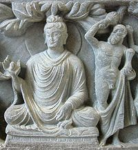 The Buddha and Vajrapani under the guise of Herakles
