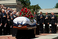 Memorial service for Robert Byrd at the State Capitol in Charleston, West Virginia, July 2, 2010
