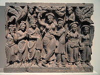 Birth of the Buddha, Kushan dynasty, late 2nd to early 3rd century CE.