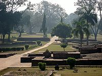 The remains of a section of Jetavana Monastery, just outside of ancient Savatthi, in Uttar Pradesh.