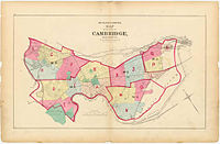Map of Cambridge from 1873