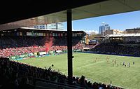 Providence Park during a Portland Thorns FC match
