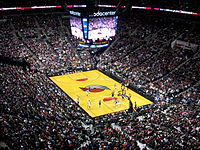 The Moda Center (formerly the Rose Garden) during a Portland Trail Blazers game