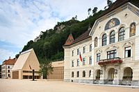 The centre of government in Vaduz